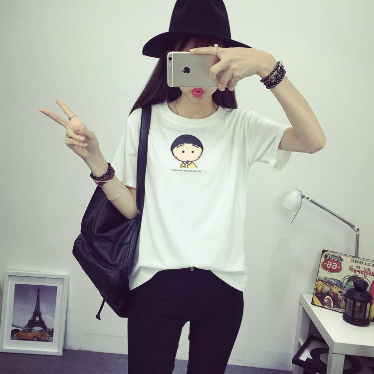韩版可爱小丸子短袖t恤