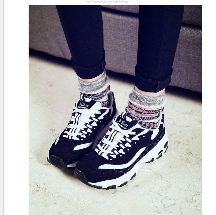 美人鱼林允同款黑白情侣鞋