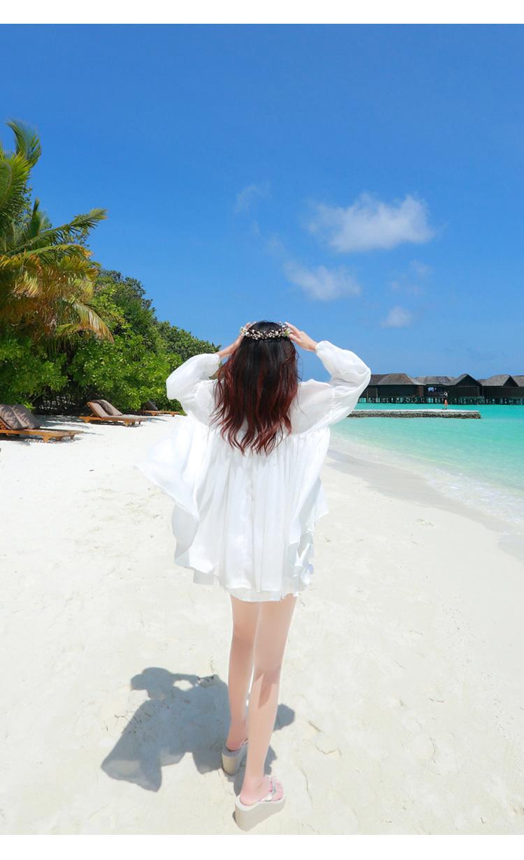海滩裙沙滩裙海边度假长裙夏波西米亚度假短裙连衣裙两件套