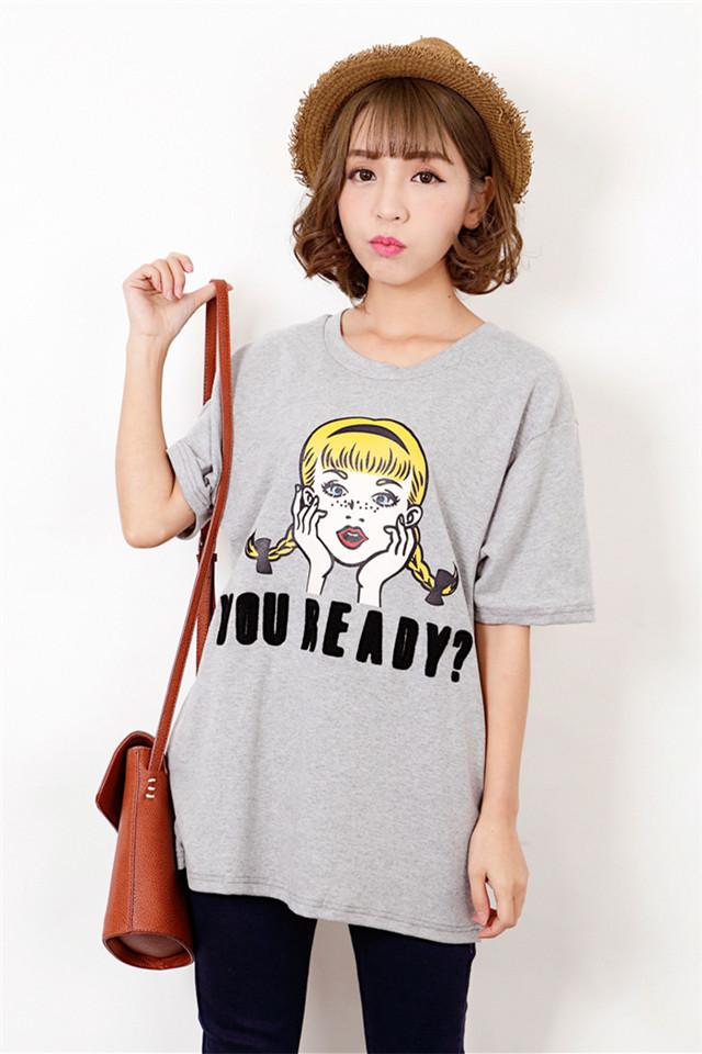 小雀斑韩版可爱小女孩学院风短袖t恤