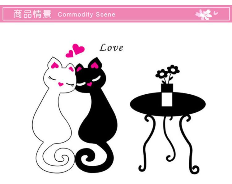 温馨猫咪相框照片墙贴 卧室玄关装饰可移除墙贴纸diy相片贴