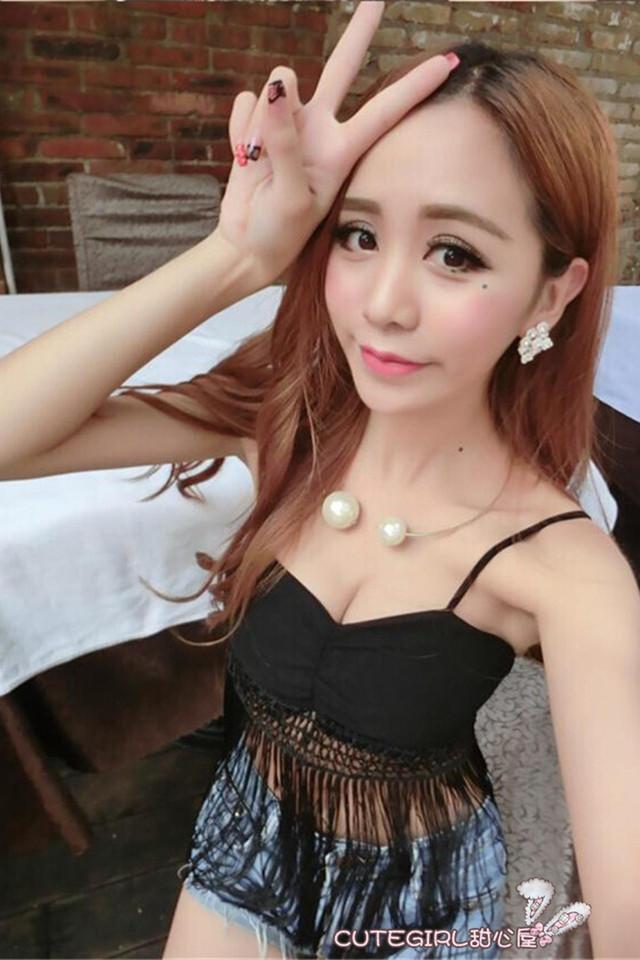 【甜心屋】夏季新款韩版性感吊带流苏裹胸小背心