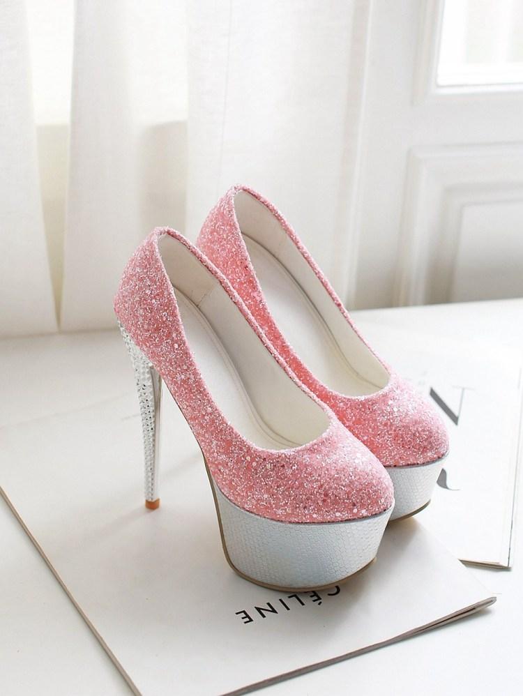 时尚性感恨天高超高跟纯手工制作高跟鞋