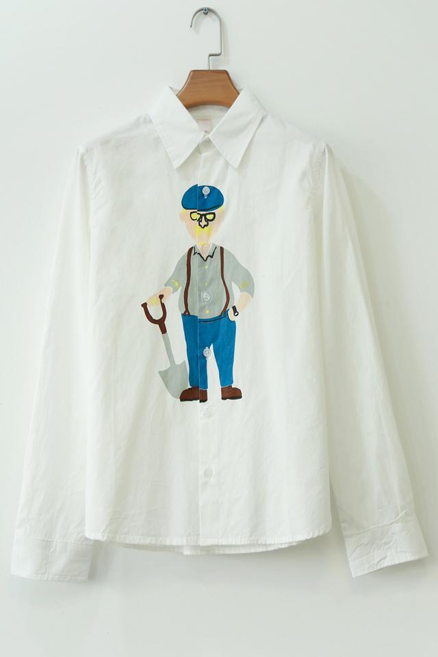 手绘衬衫图案小清新
