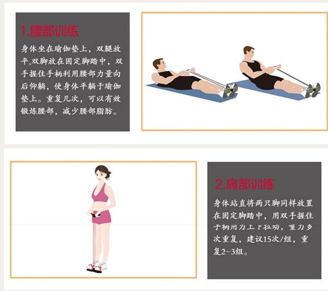 【塑腿瑜伽健美 脚踏拉力器】-家居-百货