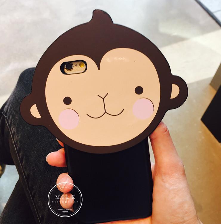 【韩国东大门新款本命年可爱猴子苹果6plus苹果手机