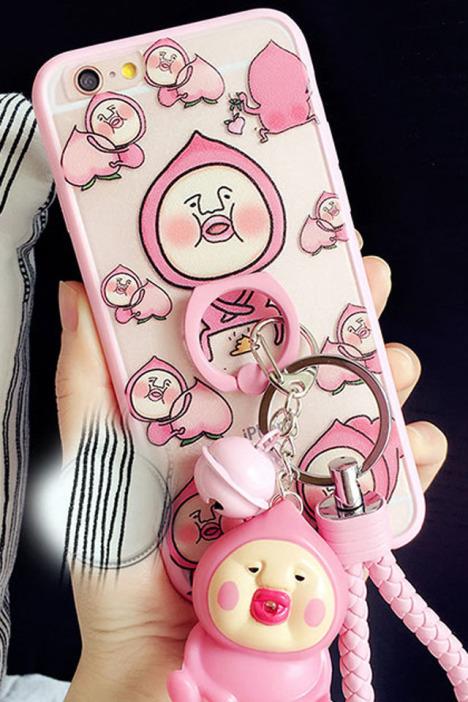 手机壳,苹果,屁桃君,iphone6,plus,可爱