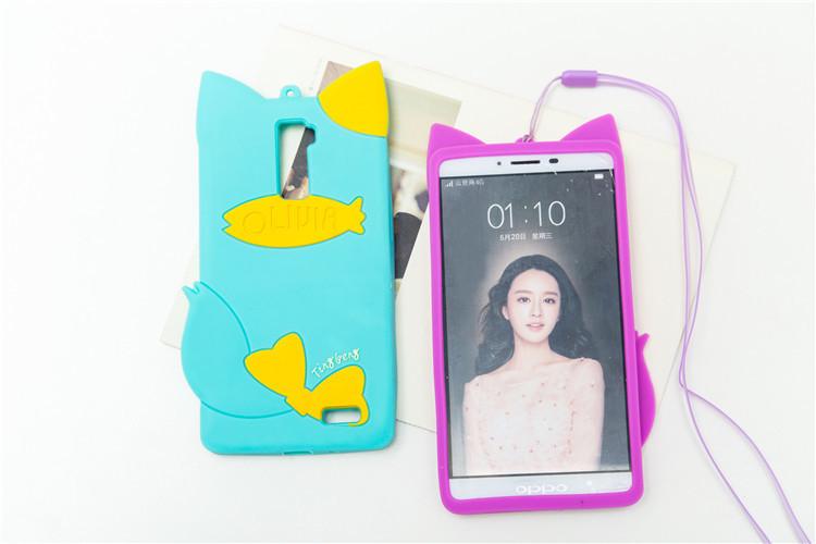 oppor7plus手机壳 可爱卡通硅胶套