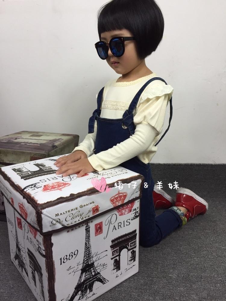 【【猪仔&羊妹】韩版潮范休闲卷裤脚纯色背带牛仔裤