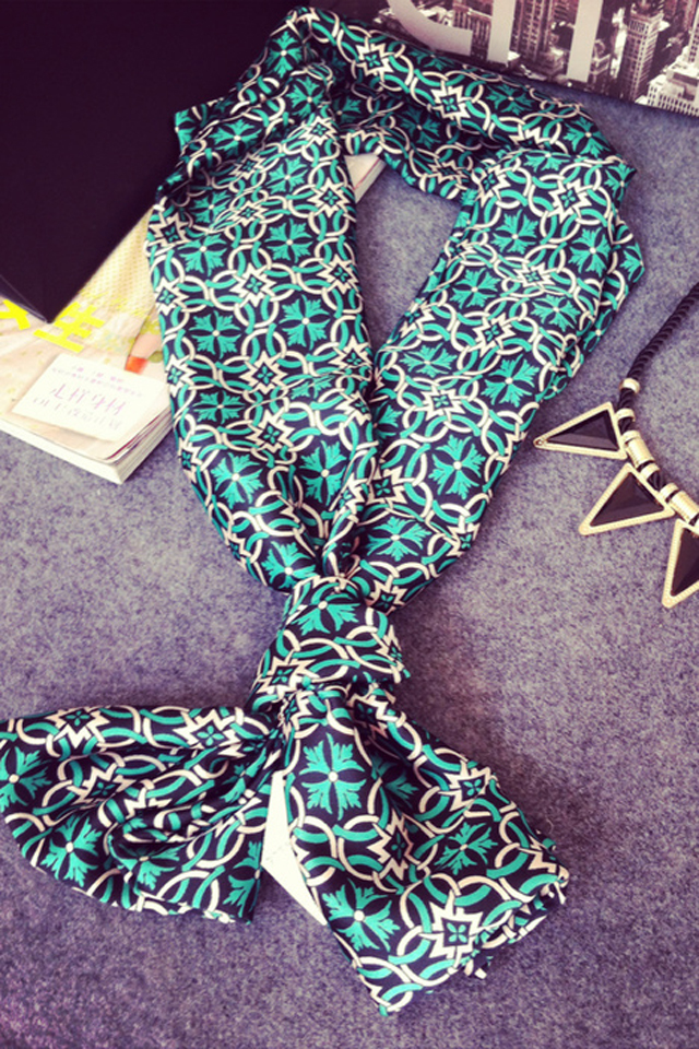 百搭装饰短款围巾时尚工作领巾