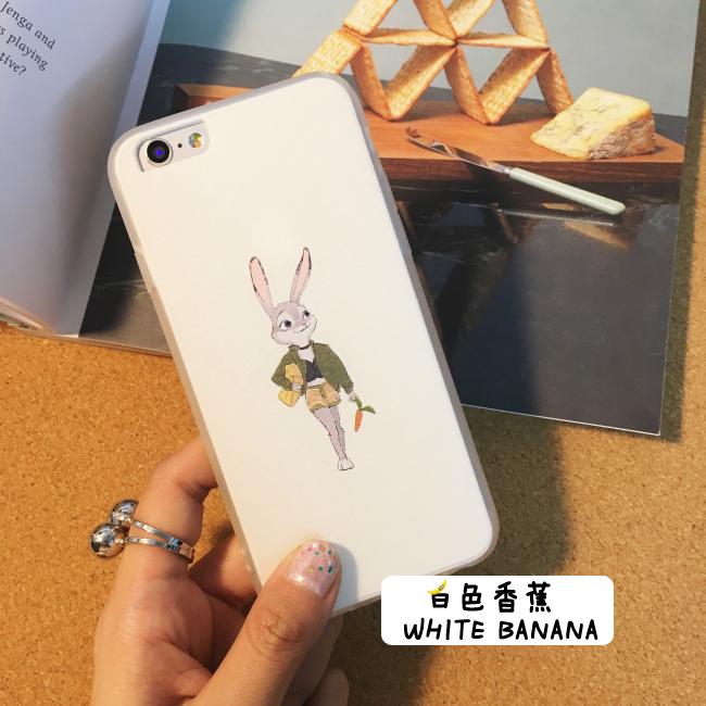 【疯狂动物城iphone6s手机壳6plus苹果5s软卡通兔子