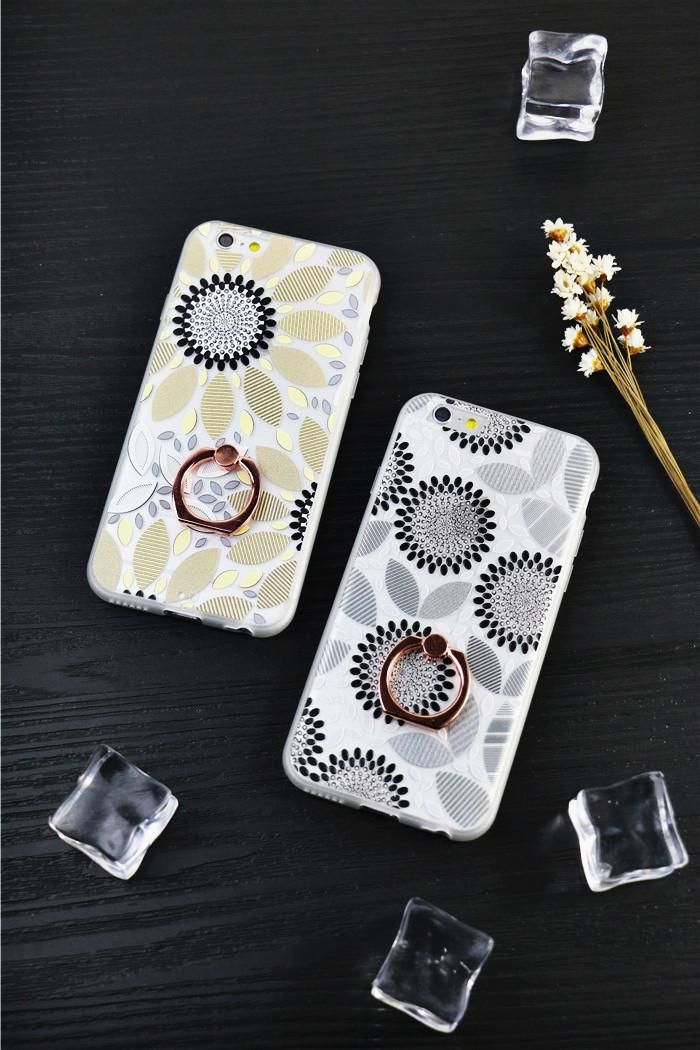 向日葵情侣苹果iphone6s保护壳6splus指环手机壳