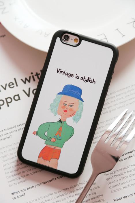 【iphone潮牌清新小可爱iphone6s手机壳】-配饰-3c