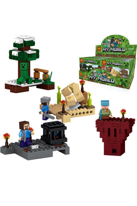 【乐高拼装积木创造我的世界卡通动物人偶4款儿童