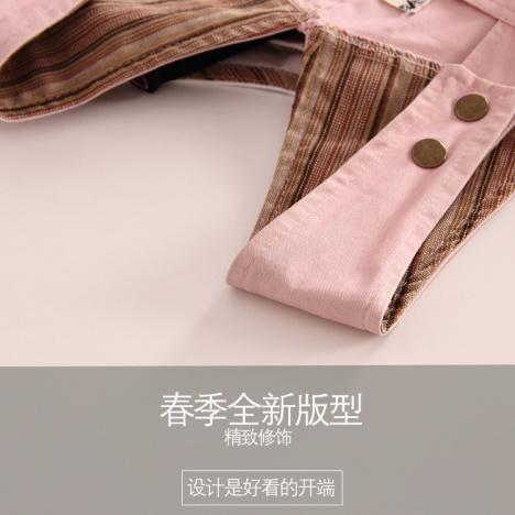 【金属扣子背带裙】-无类目-半身裙