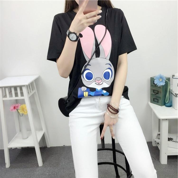 【牛牛韩衣疯狂动物城朱迪卡通印花t恤】-衣服-服饰