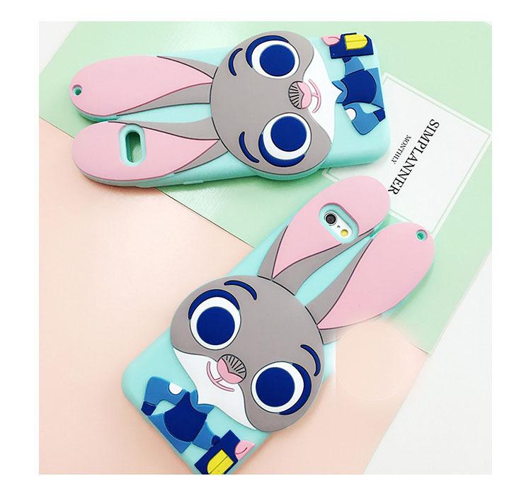 【疯狂动物城iphone6s可爱卡通情侣手机壳】-配饰-3c