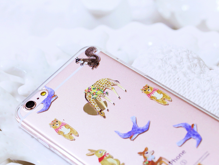【卡通动物浮雕手机壳】-配饰-3c数码配件