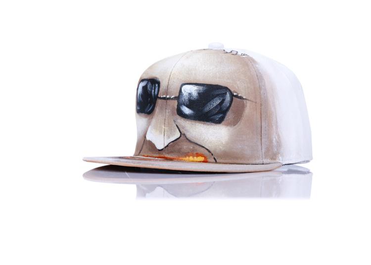 高档纯手绘涂鸦嘻哈帽子