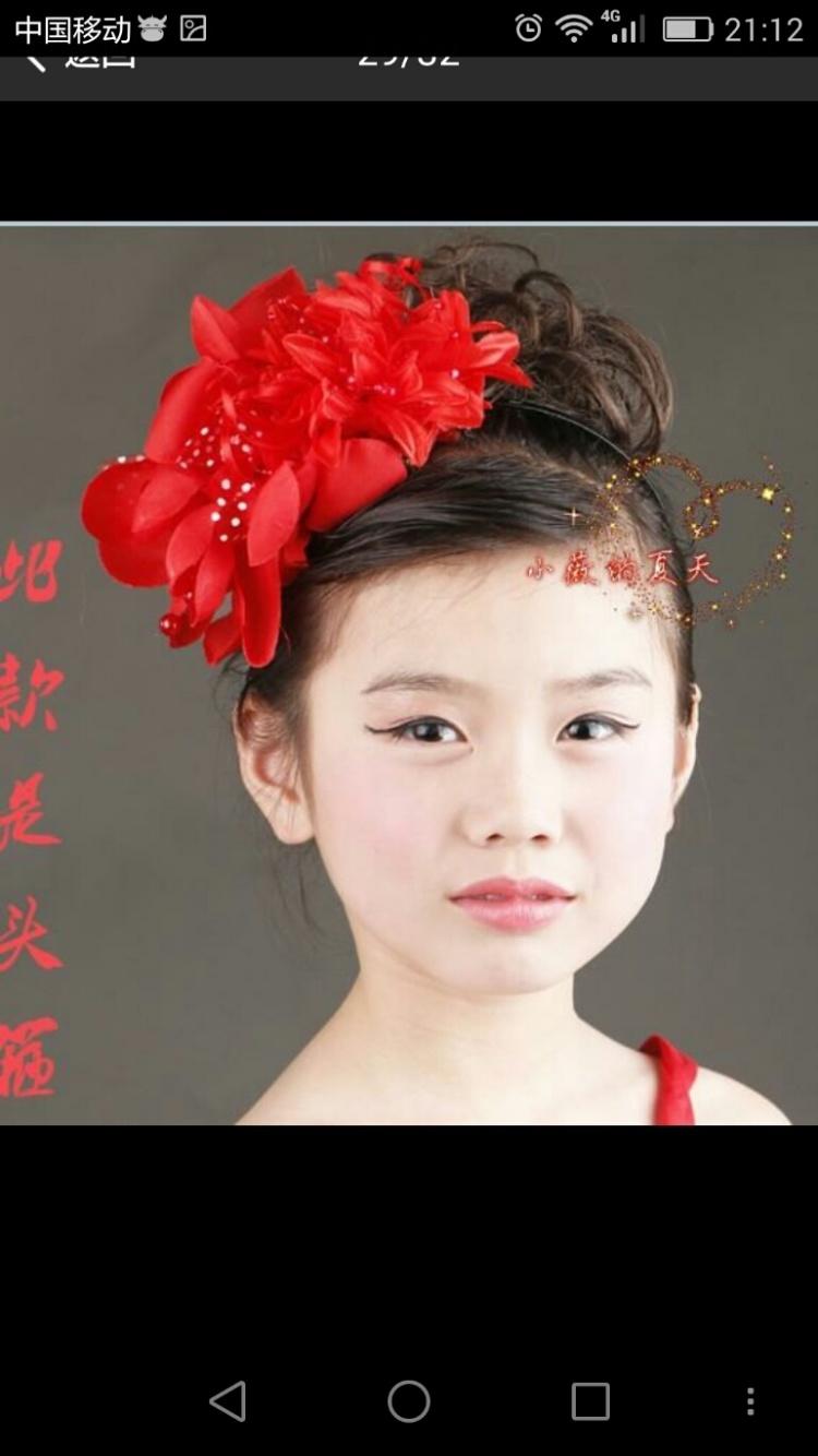 儿童唐装头饰发型图片展示
