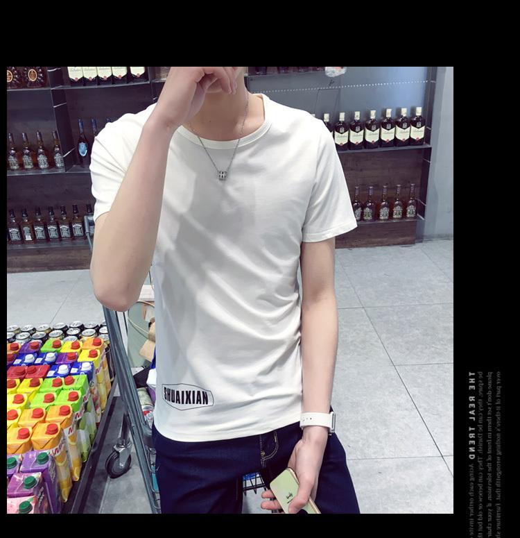 ym 2016夏装街头潮牌圆领半袖t汗衫英文字母男生短袖t恤