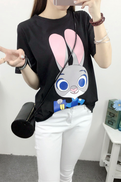 疯狂动物城朱迪卡通短袖t恤】-衣服-服饰