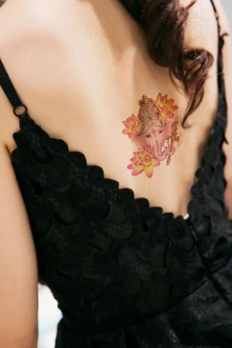 小象神大半臂纹身手稿分享展示