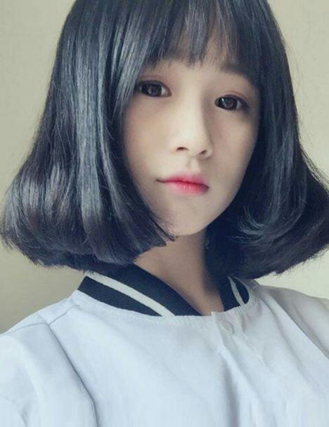 短发梨花头,中分bobo,韩国女生气质